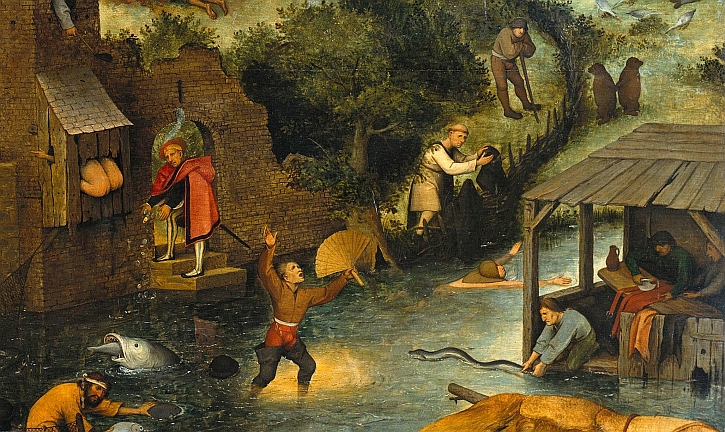 Netherlandish Proverbs painting by Peter Bruegel the Elder