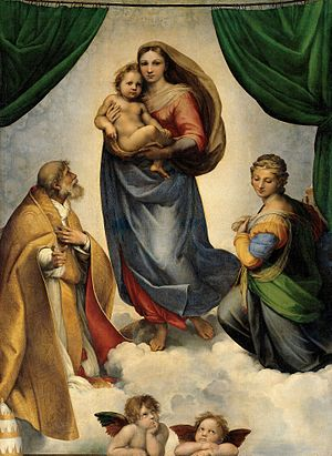 The Sistine Madonna Painting by Raphael Sanzio