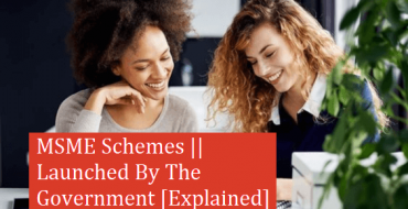 MSME Schemes || Launched By The Government [Explained]